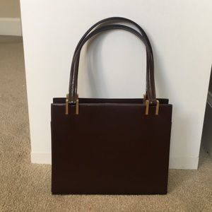 Vintage The May Co Leather Handbag